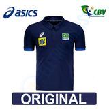 Blusa Camisa Polo Vôlei Seleção Brasileira Cbv Oficial Asics
