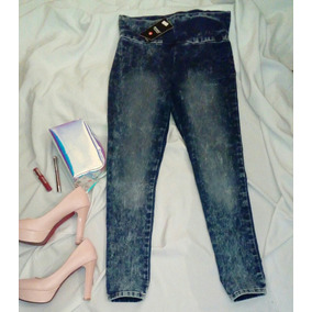 Jeans Leggings Jegging Azules Levanta Trasero Tiro Alto