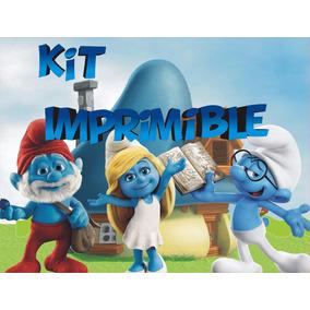 Los Pitufos Kit Imprimible Cumpleaños Personalizados