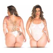 Mini Body Sensual Renda Plus Size Pimenta Sexy Fragata