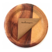 Platos De Cartón Biodegradables Reciclables Caja Con 20 Pzs