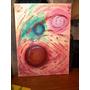 Cuadro Pintado Oleo De Colores Arte Abstracto Sello Seurat