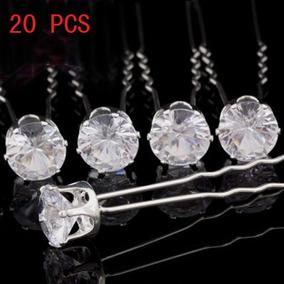 20 X Diamante De Cristal Claro Boda Nu Xial Fiesta Pelo Pasa