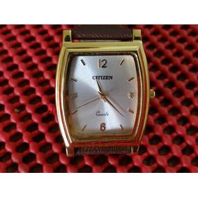 5764595b82d Relógio Citizen Masculino Quartz Dourado   Marrom