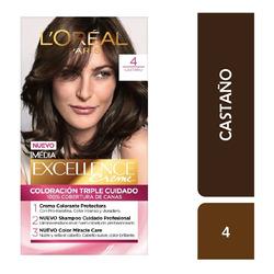 Tinte Capilar Imedia Excellence L'oréal Paris 4 Castaño