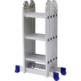 Escada Multifuncional 4 X 3 Em Alumínio 12 Degraus- Mor