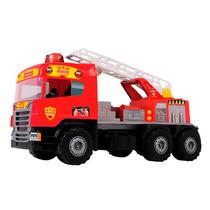 Caminhão Super Bombeiro Brinquedo Infantil Magic Toys