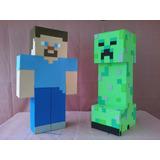 Piñata Minecraft, Varios Modelos En Goma Eva