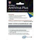 Licencia Antivirus Plus Mcaffe
