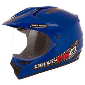 Capacete Moto Cross Liberty Mx Pro Vision Com Vizeira 58 60