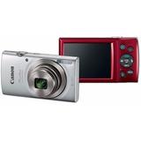 Camara Digital Canon Powershot Elph 180 Gris Y Rojo