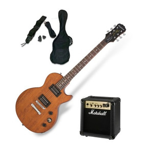 Guitarra Electrica Epiphone Les Paul Amplificador Marshall