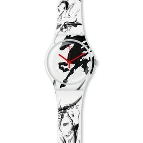 Reloj Swatch Para Mujer Suoz169 Año Del Caballo