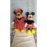 Mickey Minnie Mouse Disney Antiguo Muñeco Peluche Original
