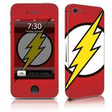 Adesivo Para Celular The Flash Logo - Para Iphone 4