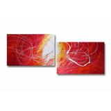 Cuadros Abstractos Modernos Dípticos 1.50 X 50 Cms