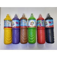 Tempera Botella 750ml Jardin Escuela Varios Colores X10