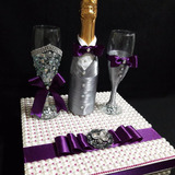 Copas Decoradas Para Bodas,con Caja De Perlas. Hermosas!!!!!
