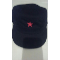 Cap Negro Con Estrella Roja.