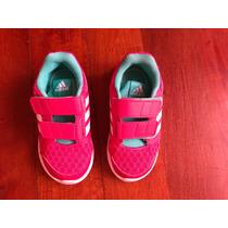 Zapatillas Adidas Niñas Con Abrojo Rosa Talle 23cm Us 7.5