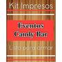 Candy Bar Impreso Personalizado 50 Stickers!