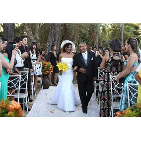 Vestido De Noiva Semi Sereia Modela A Cintura E O Quadril