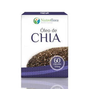 Óleo De Chia - 500 Mg - 60 Cápsulas - Nutreflora