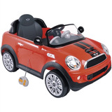 Mini Veículo Carro Elétrico Mini Cooper S Coupe Vermelho Kid