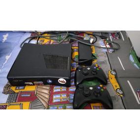 Xbox 360 Desbloqueado Com Dois Controles, Kinect + Jogos !!!