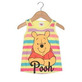 Blusa Infantil Regata Pooh 1 A 3 Anos