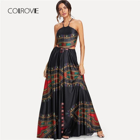 Vestido Preto Étnico Longo Festas Madrinha Casamento Tam: M