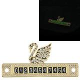 Etiqueta Aparcamiento Swan Modelado Luminoso Decoracion