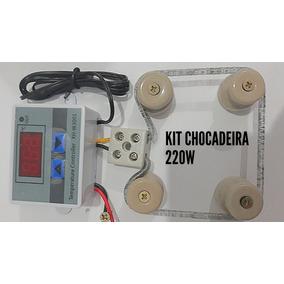 Kit P Chocadeira Termostato Digital220v+resistência+isolador