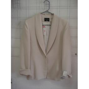 Elegante Y Formal Saco De Dama Con Forro Color Ivory
