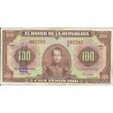 Colombia, Serie 1951 Cien Pesos Oro