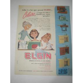 L 290/ Gkrm320 Propaganda Antiga Máquina Costura Elgin