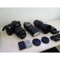 Maquina Fotográfica Profissional Nikon D5100 + Acessórios