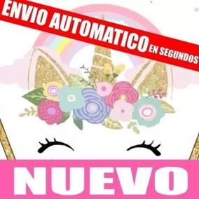 Kit Imprimible Unicornio Dorado Editable Envio Gratis 2019