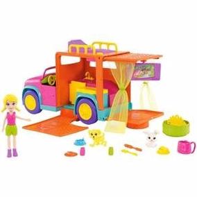 Polly Pocket - Polly Com Veículo Carro De Acampamento Mattel