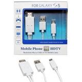 Cabo Mhl Hdmi X V8 Samsung Galaxy S3 S4 S5 Hd Tv Micro Usb