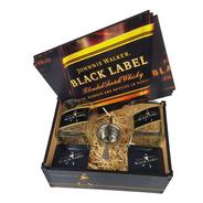 Kit Whisky Presente Caixa + 2 Copos + Dosador + P Copo