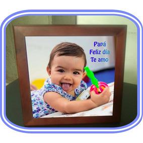 Azulejo Personalizado C/ Marco De Madera