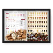 Quadro 33x43 Tampinha/rolha (2em1)wine Guide E Beer 101