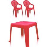 Promoção Mesa Mesinha Duas Cadeiras Infantil Teddy Top Decor