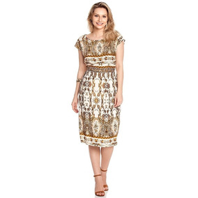 Vestido Moda Evangelica, Vestido Tubinho Social, Estamp