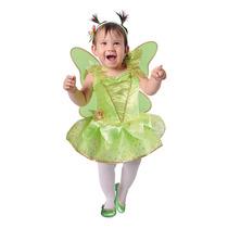 Disfraz Niña Campanita Bebe Carnavalito Tallas 12-18 Meses