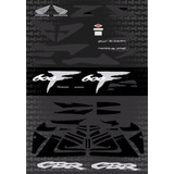 Kit Adesivos Honda Cbr 600f 1998 Preta E Grafite Cbr600f6