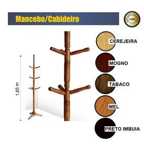 Cabideiro De Madeira, Mancebo, Porta Bolsas E Chapéis