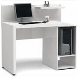 Mesa Para Computador Fabricado Em Mdf Branco Tx 1m De Largur
