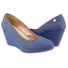 Zapato Dama Mujer Balerina Cerrado Moda Mezclilla 010861